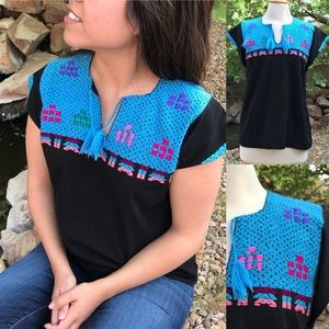 Tops - Mexican Hand Embroidered Blouse Bohemian style